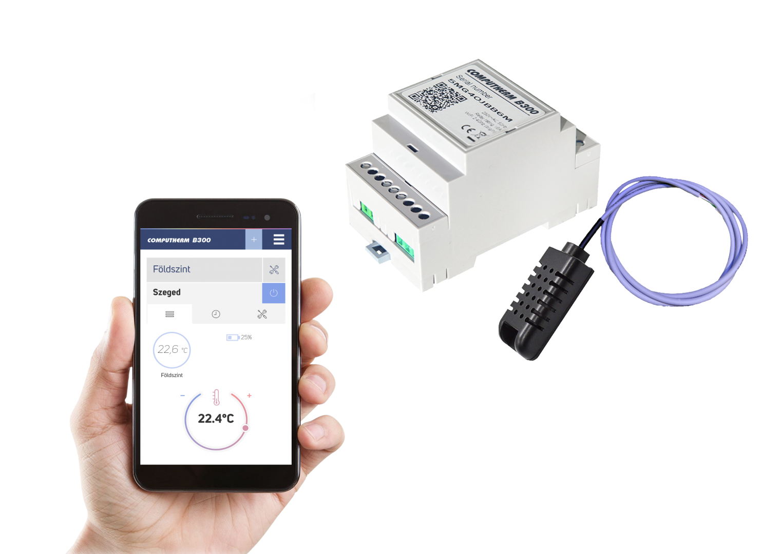 B300 - Wifi termostat sa žičnim osjetnikom