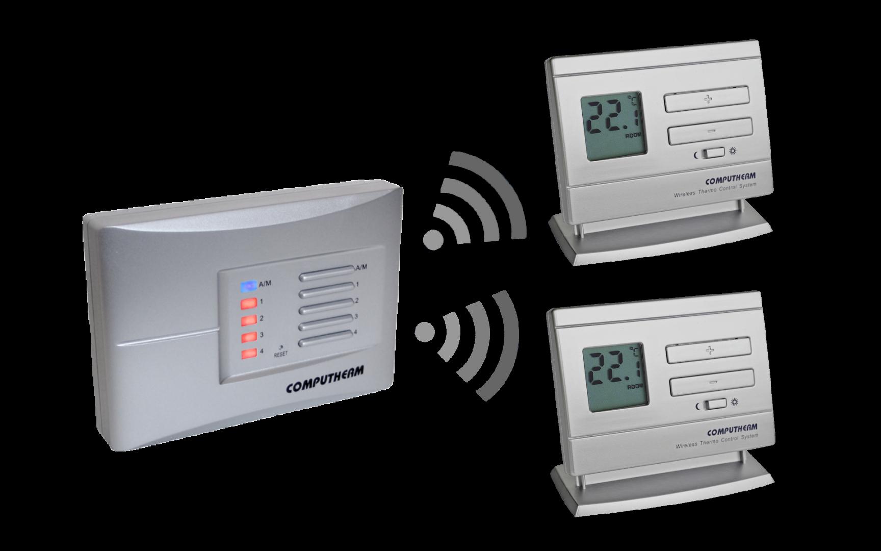 Bežični zonski termostati sa prijemnom jedinicom Q5RF