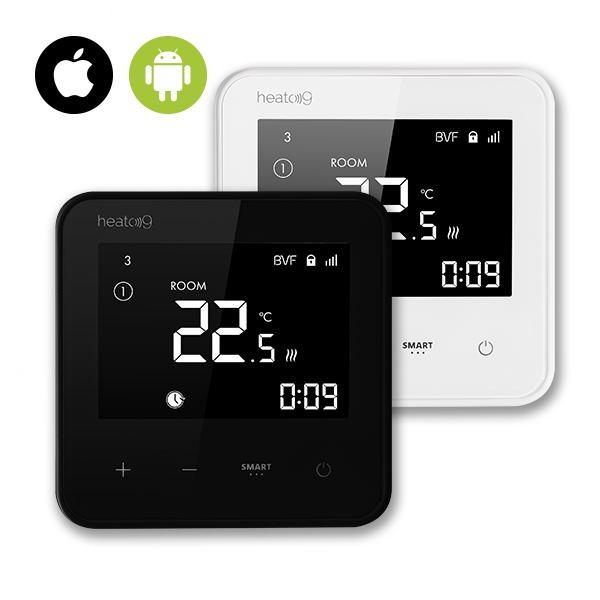 Heato9 termostat bijeli i crni