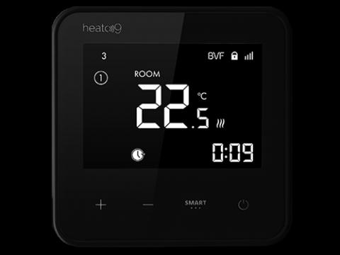 BVF Heato9 - Wi-Fi sobni termostat crni s podnim i zračnim senzorom