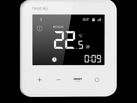 BVF Heato9 - Wi-Fi sobni termostat bijeli s podnim i zračnim senzorom